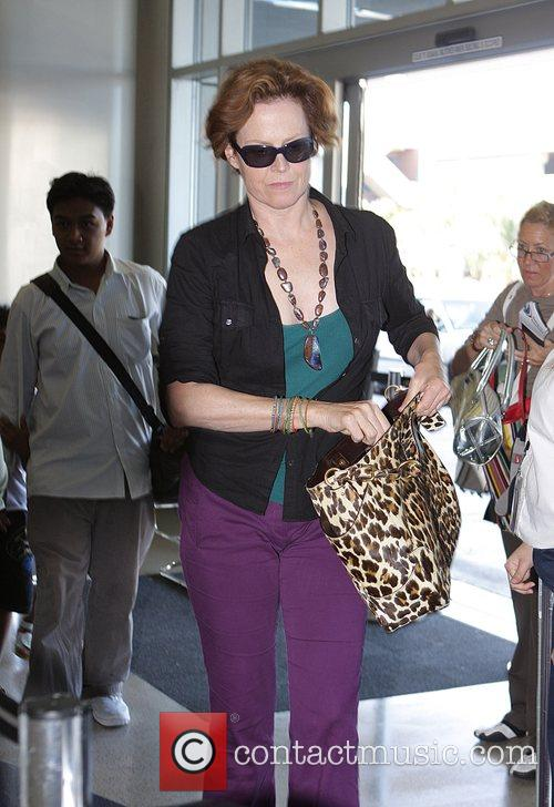 Sigourney Weaver, One Day Before Her 59th Birthday and Arrives At Lax Airport For A Flight To New York 9