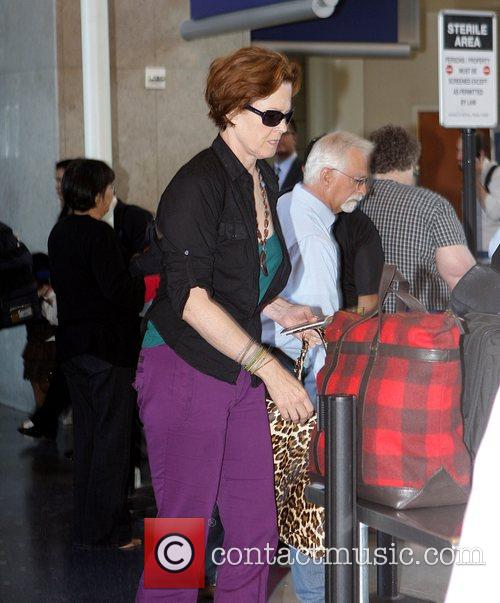Sigourney Weaver, One Day Before Her 59th Birthday and Arrives At Lax Airport For A Flight To New York 7