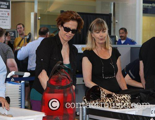 Sigourney Weaver, One Day Before Her 59th Birthday and Arrives At Lax Airport For A Flight To New York 10