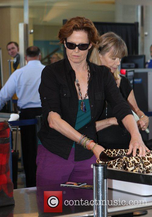 Sigourney Weaver, One Day Before Her 59th Birthday and Arrives At Lax Airport For A Flight To New York 6