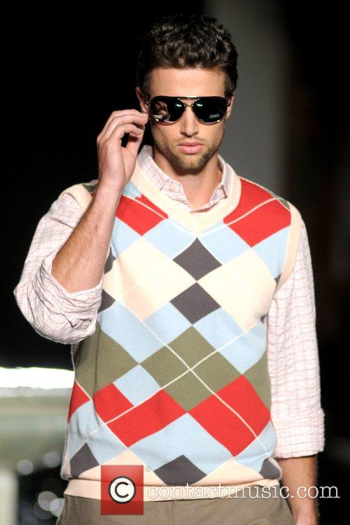 Model Russell Simmons' Argyle Culture fashion show during...