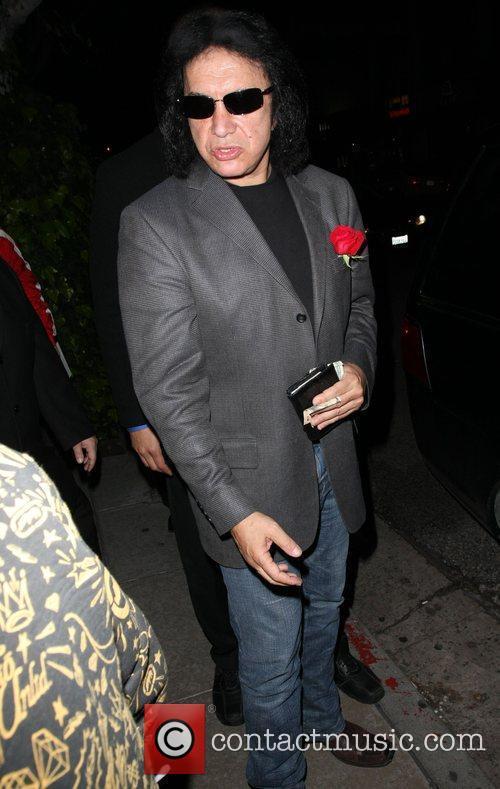Gene Simmons  leaving the Ivy restaurant Los...