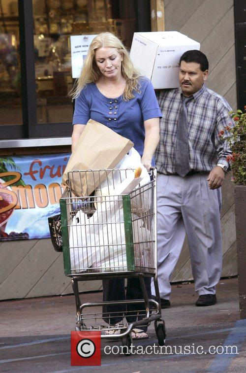 Shannon Tweed leaving a grocery store in Bel-Air...