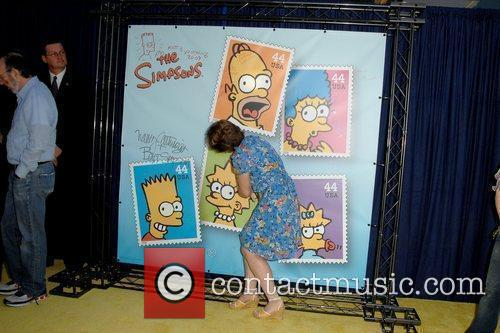 Stamps of Simpsons characters are unveiled at the...