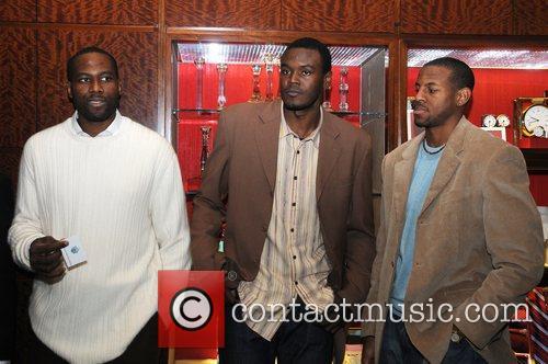 Elton Brand, Samuel Dalembert and Andre Iguodala Philadelphia76'ers...
