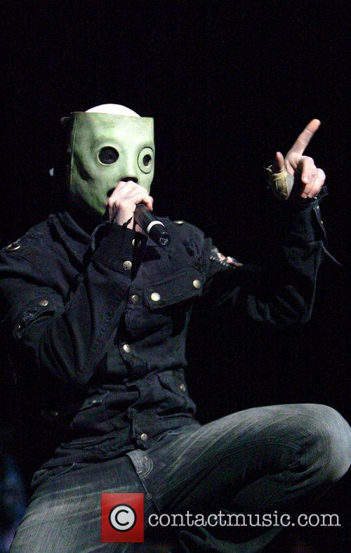 Slipknot performing live in concert at the Acer...