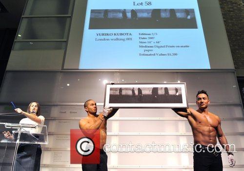 Model presents Yuriko Kubota for auction SNAP!09 an...