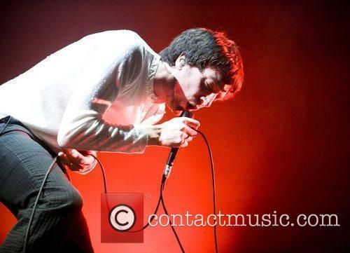 Gary Lightbody of Snow Patrol performing live at...