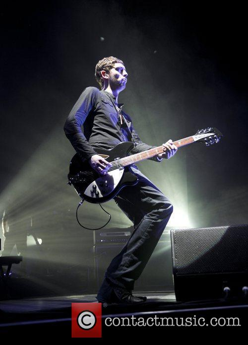 Nathan Connolly of Snow Patrol performing live at...