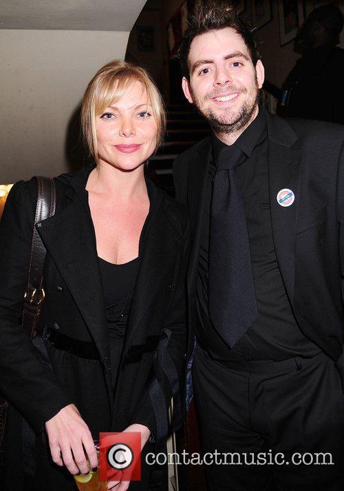 Producer Garry Lake with Actress Samantha Janus...