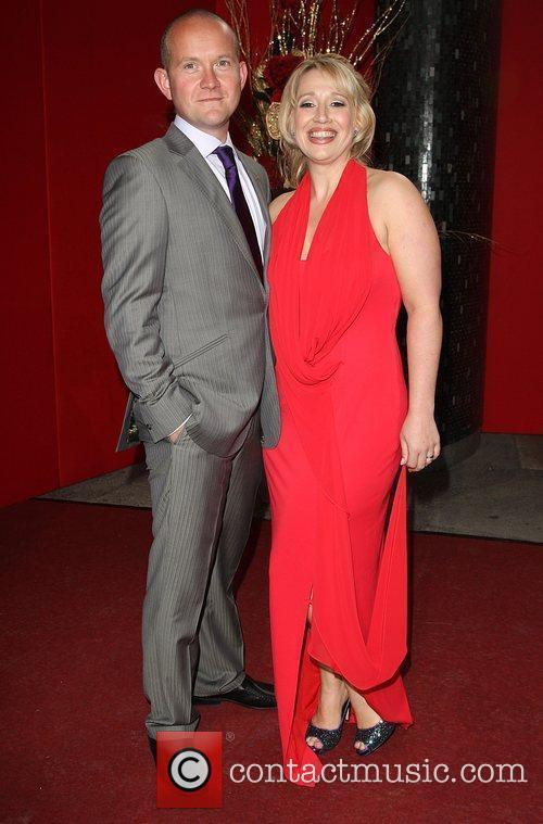 Katy Cavanagh and guest The British soap awards...