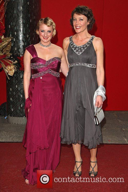 Nicola Wheeler and guest The British soap awards...