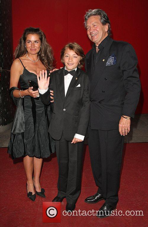 Patrick Mower with his wife and son The...