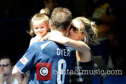 Danny Dyer and his partner and daughter,...