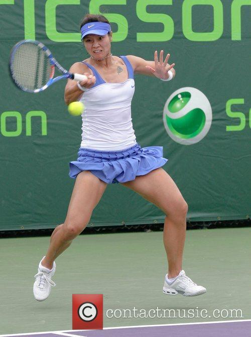 Na Li plays against Vera Zvonareva during day...