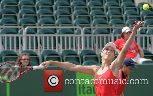 Nicole Vaidisova plays against Svetlana Kuznetsova during day...