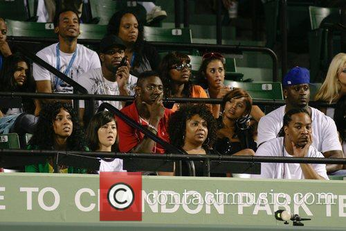 Kelly Rowland Celebrities watch during day 7 of...