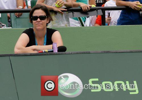 Lindsay Davenport Celebrities watch during day 7 of...