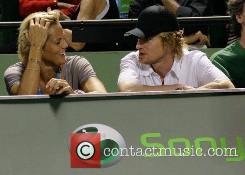 Actor Owen Wilson and Olympic swimmer Dara Torres...