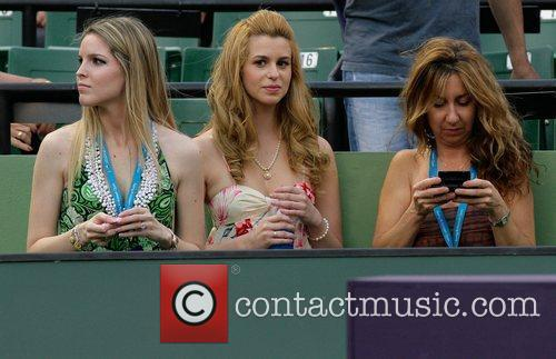 Latin singer Ana Cristina  attends the tennis...
