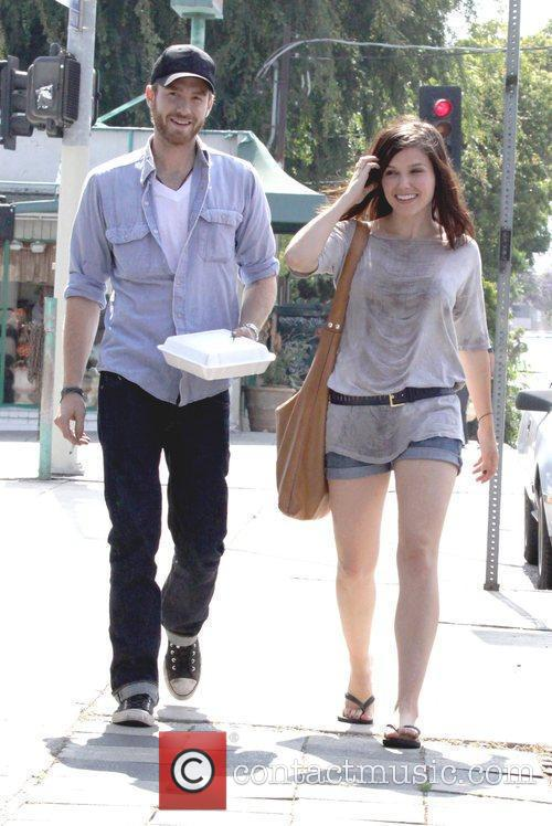 Actor Jon Foster and Sophia Bush have lunch...