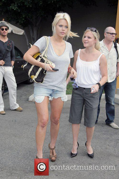 Sophie Monk leaving New Wave Entertainment in Burbank...