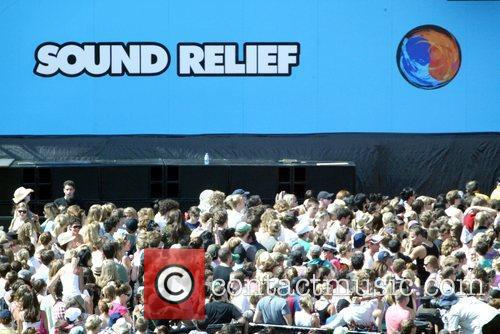 The 'Sound Relief' music festival at the Sydney...