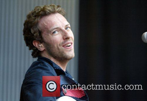 Chris Martin of Coldplay The 'Sound Relief' music...
