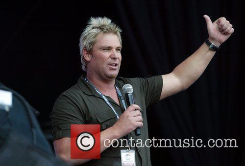 Shane Warne The 'Sound Relief' music festival at...