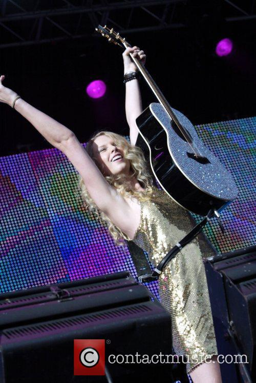 Taylor Swift The 'Sound Relief' music festival at...