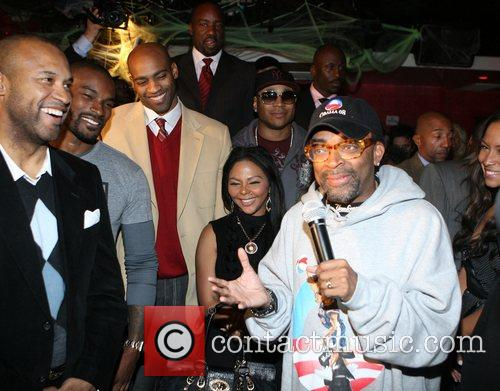 Spike Lee, Lil' Kim Russell Simmons and Spike...