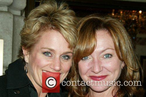 Cady Huffman and Julie White opening night of...