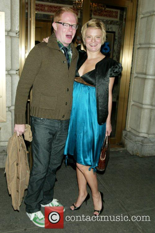 Jesse Tyler Ferguson, Martha Plimpton opening night of...
