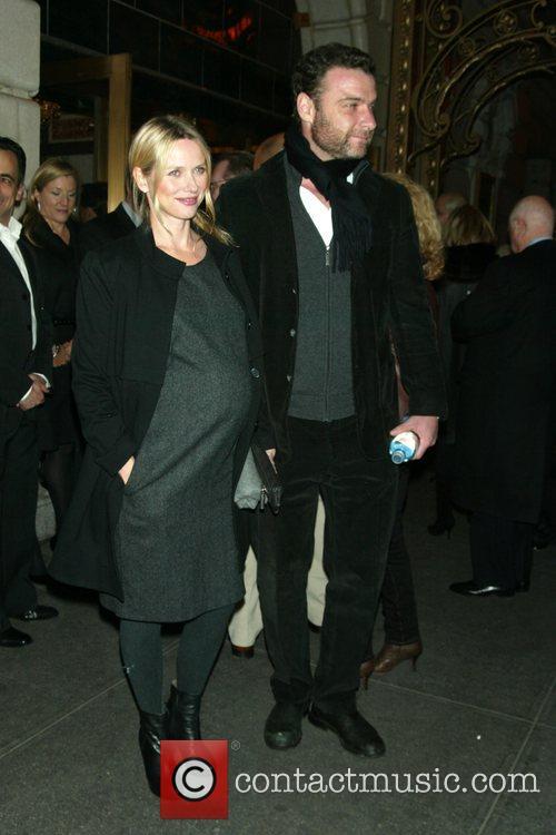Naomi Watts and Liev Schreiber opening night of...
