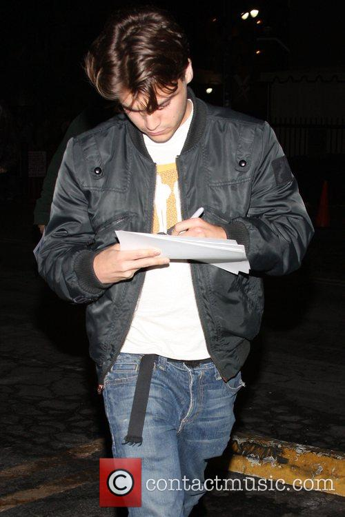 Emile Hirsch outside Spider Club in Hollywood