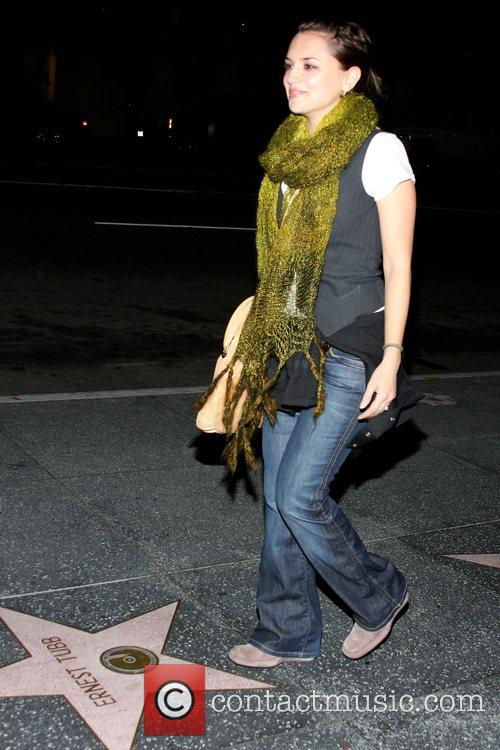 Rachael Leigh Cook outside Spider Club in Hollywood
