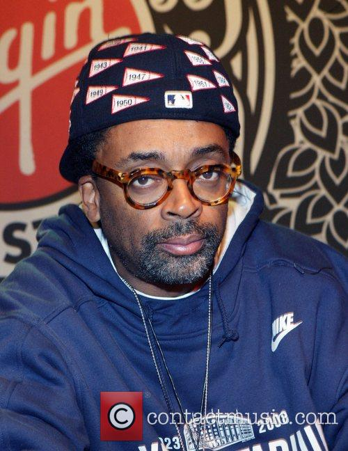 Spike Lee signs copies of the book 'Miracle...