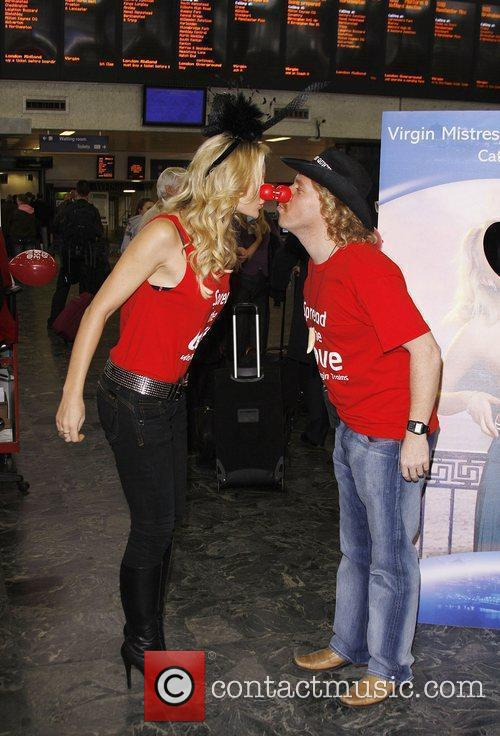 Caprice and Leigh Francis Spread The Love for...