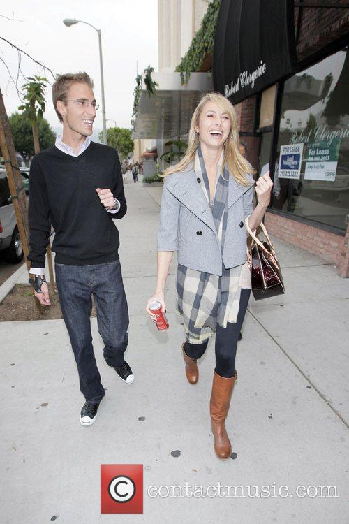 Stacey Keibler and her boyfriend  leaving the...
