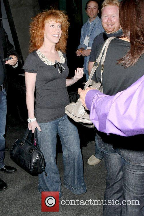 Kathy Griffin arriving at the Staples Center for...
