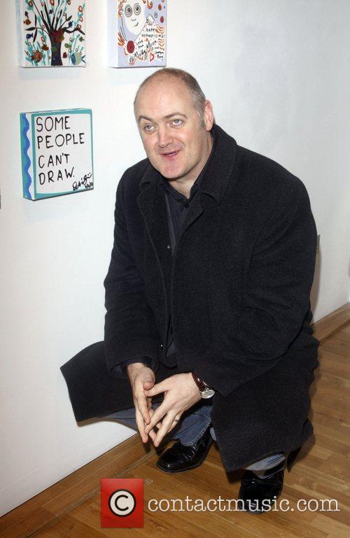 Dara O'Briain Stars on canvas 2008 An exhibition...