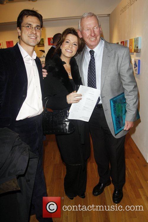 Natasha Kaplinsky and Bob Wilson Stars on canvas...