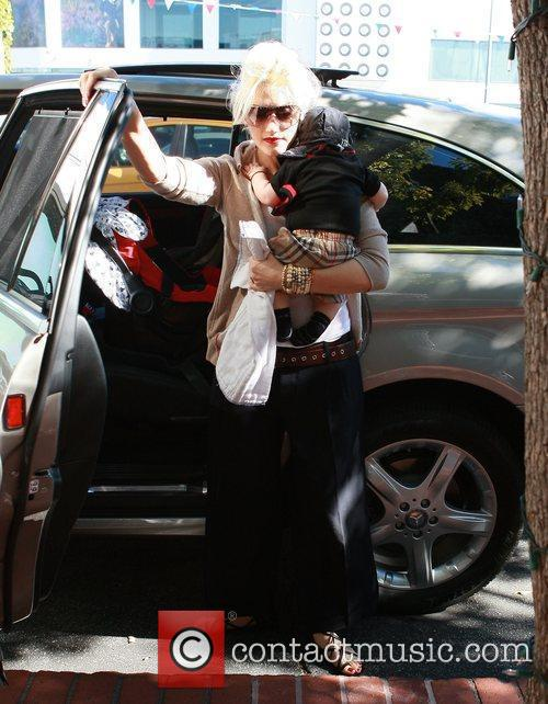 Gwen Stefani and son Zuma arriving at Fred...
