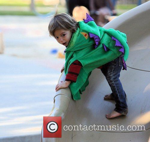 Kingston Rossdale enjoys a playdate at a Beverly...