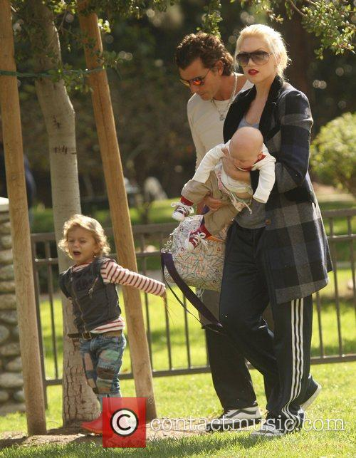 Gavin Rossdale and Gwen Stefani take baby Zuma...