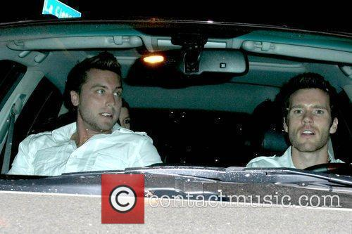 Lance Bass and Guest leaving the STK 1...