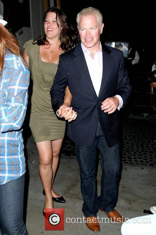 Ruve Robertson and Neal McDonough leaving the STK...