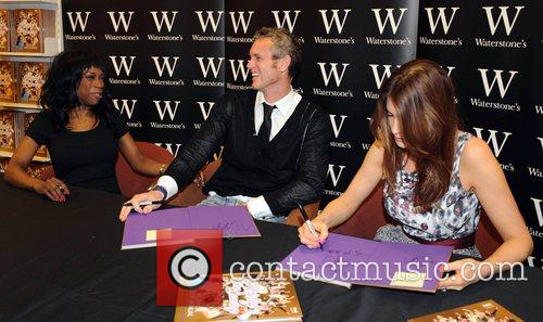 Heather Small, Mark Foster, and Lisa Snowdon sign...