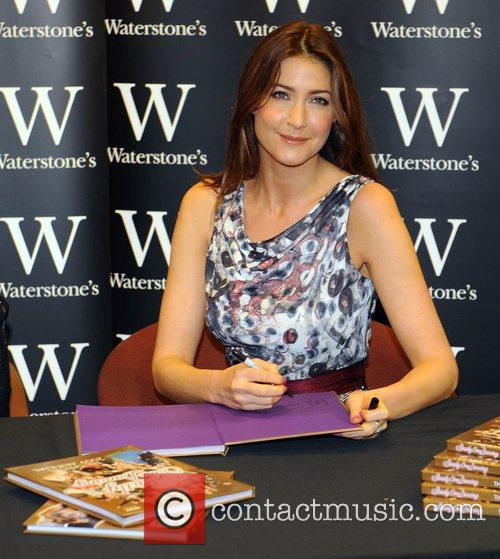 Lisa Snowdon  signs copies of the new...