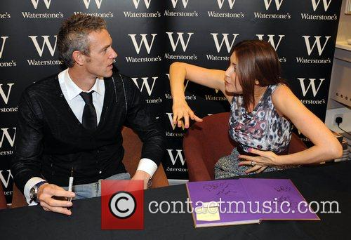 Mark Foster and Lisa Snowdon  sign copies...